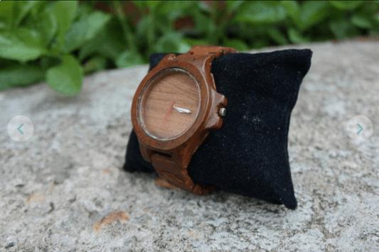 jam tangan kayu