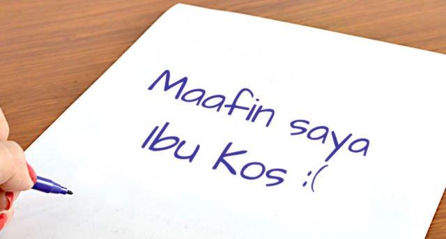 jangan sampai kamu nulis surat untuk ibu kos :(