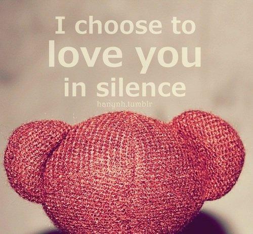 bagaimanapun, mencintainya diam-diama dalah pilihanmu