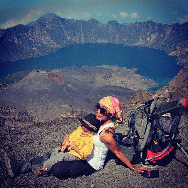 Puncak Rinjani, pendakian gunung Max ke-8, 23 bulan. November 2014.