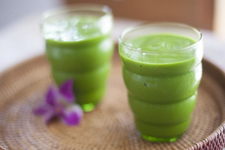 teh hijau + nanas + pear + pepaya
