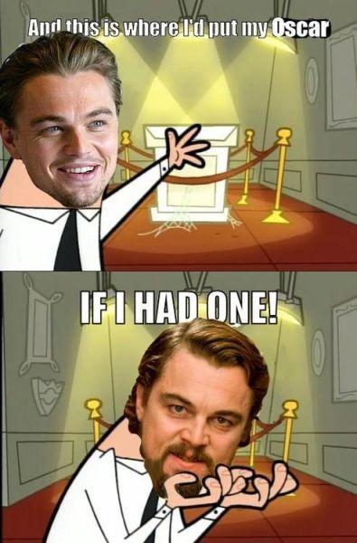 Persiapan Leo untuk meletakkan piala Oscar