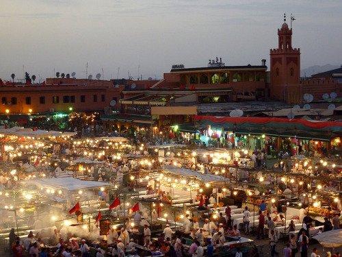 Djemaa el Fna di Marrakesh.