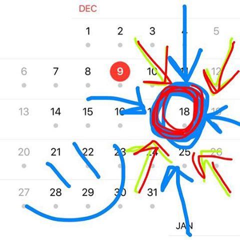 mark the calendar