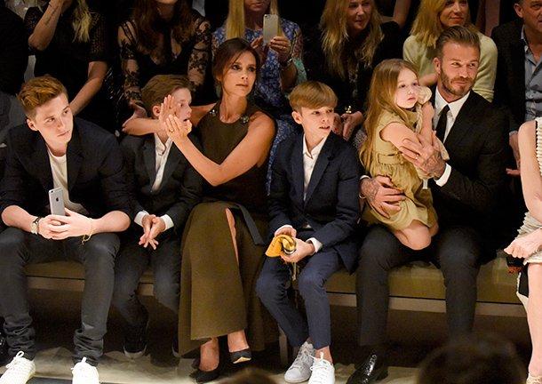 Keluarga bahagia Victoria dan Beckham.