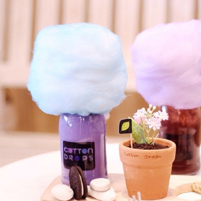 Minuman cotton candy