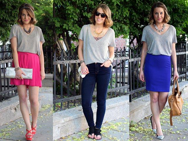 akali dengan celana jeans atau pencil skirt