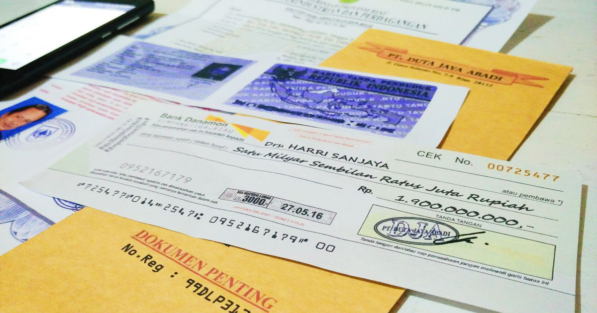 Waspada Modus Penipuan Cek Palsu Hati Hatilah Jika Menemukan Dokumen Berisi Cek Milyaran Rupiah