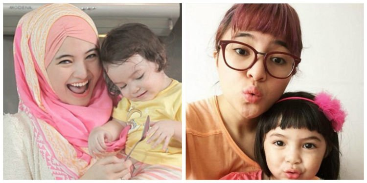 Ibu muda yang berhijab (jiaoxue.info) atau yang gaul (www.bintang.com)?