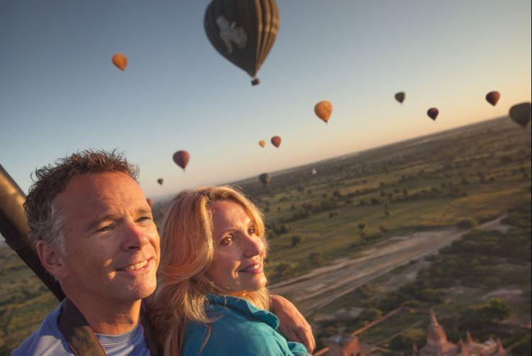 selfie dari balon udara!