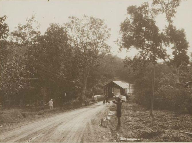 Jembatan Ciasem, di Jalan Subang (1928).