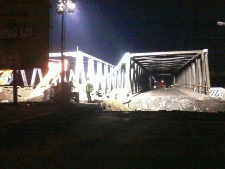 Perbaikan jembatan pada 2014.