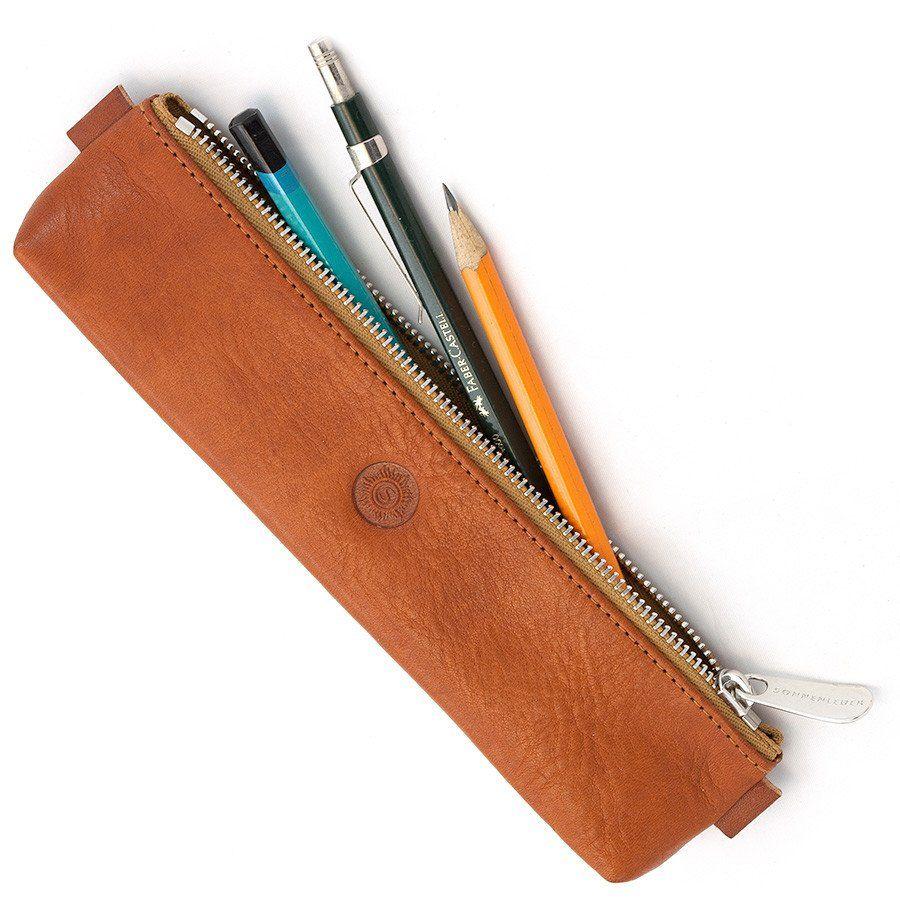 Tempat pensil dari kulit yang keren