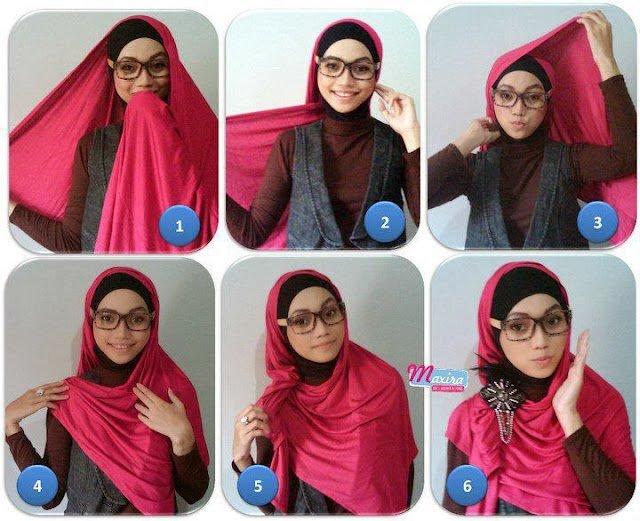 Karena Cewek Berkacamata Itu Manis Dan Imut Inilah 7 Tutorial Jilbab Yang Paling Pas Buat Dia