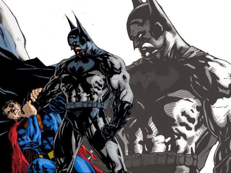 Superman jatuh di cengkeraman Batman