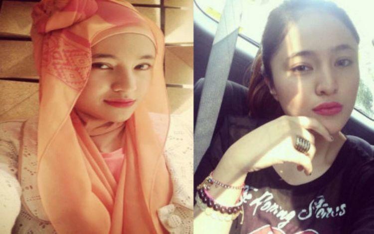Hijab orange vs rambut pirang. Pilih yang mana?