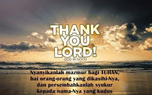 Terimkasih Tuhan