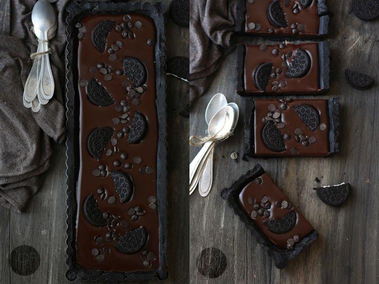 kue tart cokelat oreo