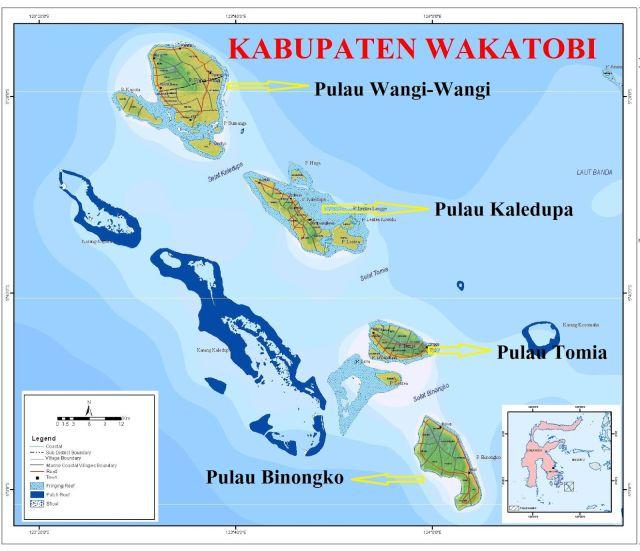 Peta Pulau Wakatobi