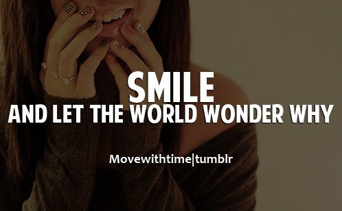 smile for the world