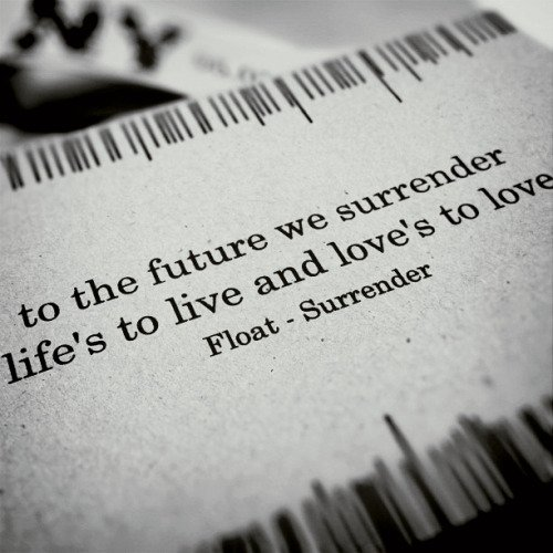 To the future we surrender