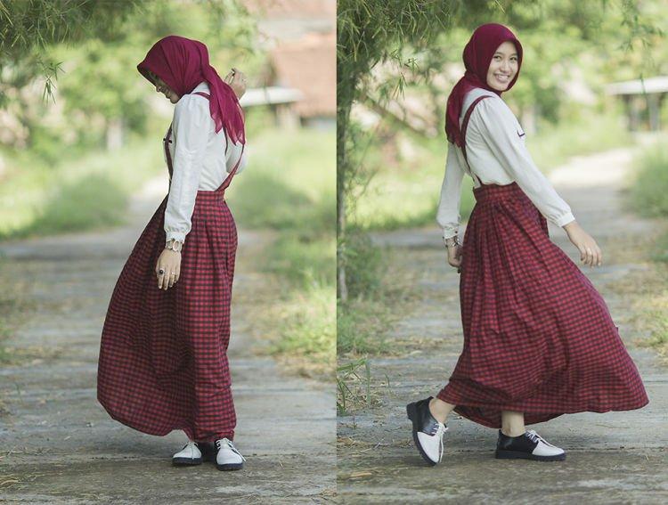 A line skirt yang lucu tapi tetap manis