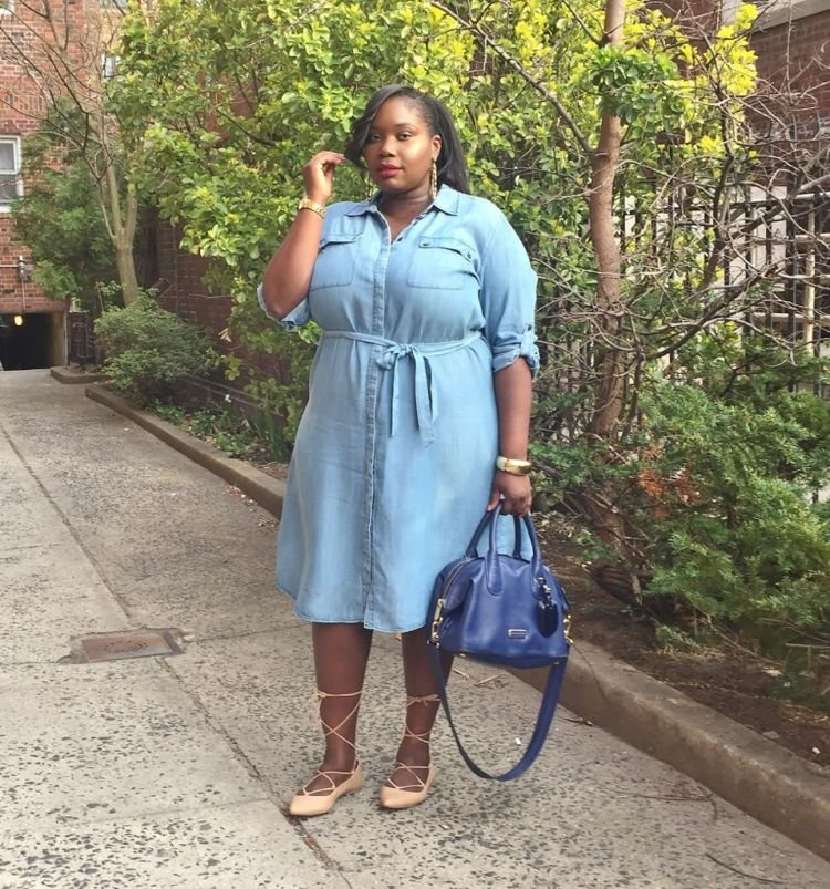 Shirtdress denim