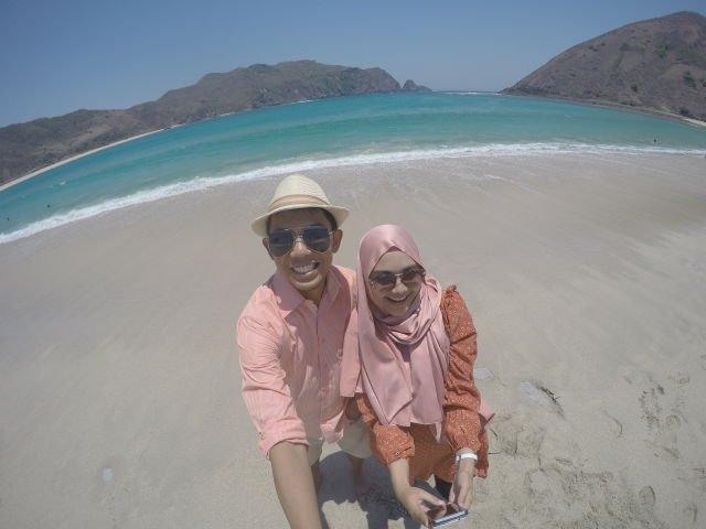 cuaca cerah pantai lombok