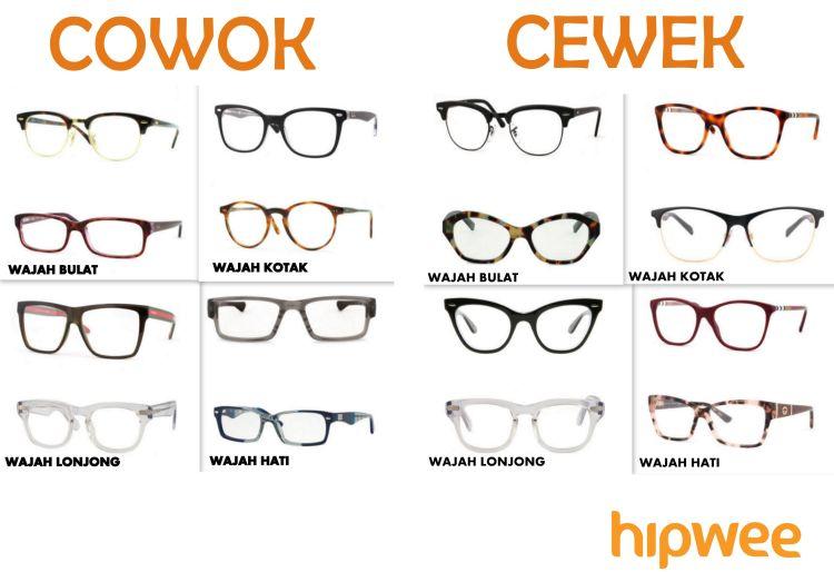 Pilihan model kacamata sesuai bentuk wajah