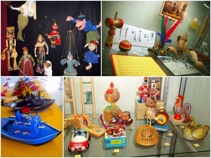 macam-macam mainan di museum anak kolong tangga