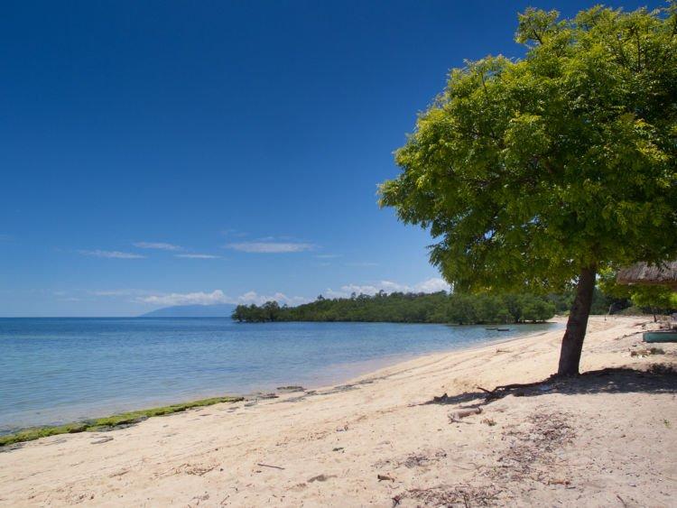 Pantai dekat pos perbatasan di Atapupu