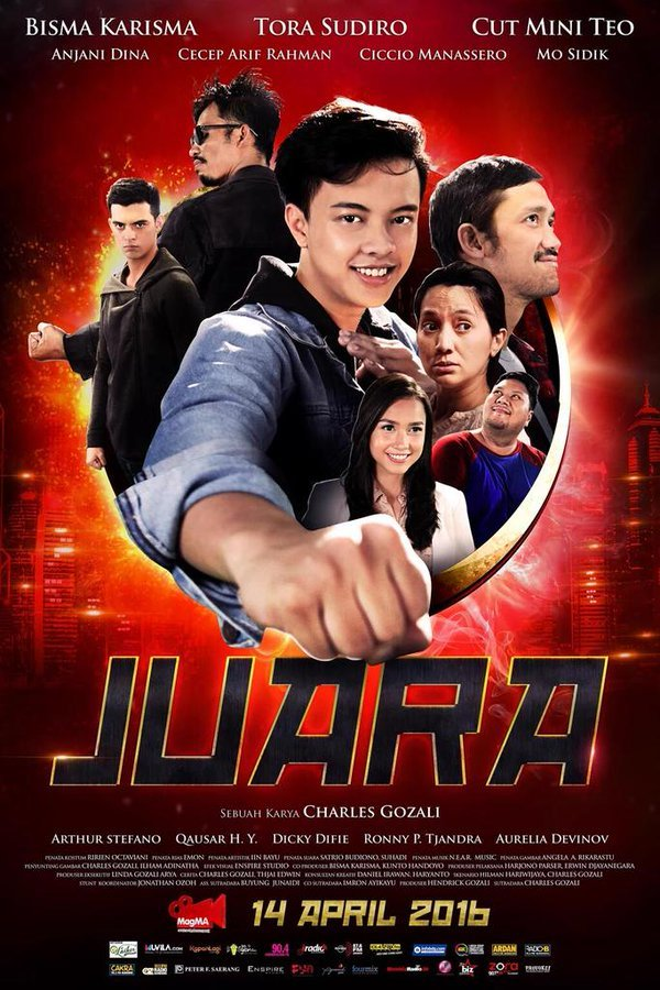 Poster film yang dibintangi Bisma.