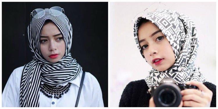 biar lebih tirus, pakai jilbab berbahan katun @joyagh