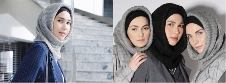 hijab rajut buat wajah tirus @ranihatta