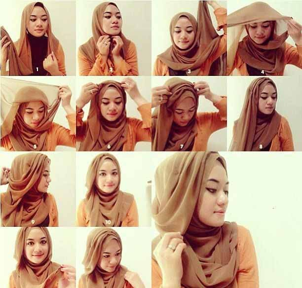 11 Tutorial Hijab Menutup Dada; Sopan, Anggun dan Tetap