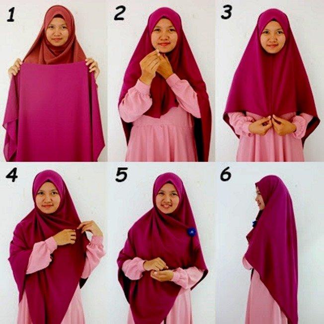 kalau kamu punya hijab segi empat yang lebar