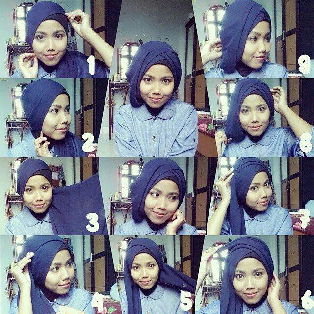 hijab paris satu warna juga oke