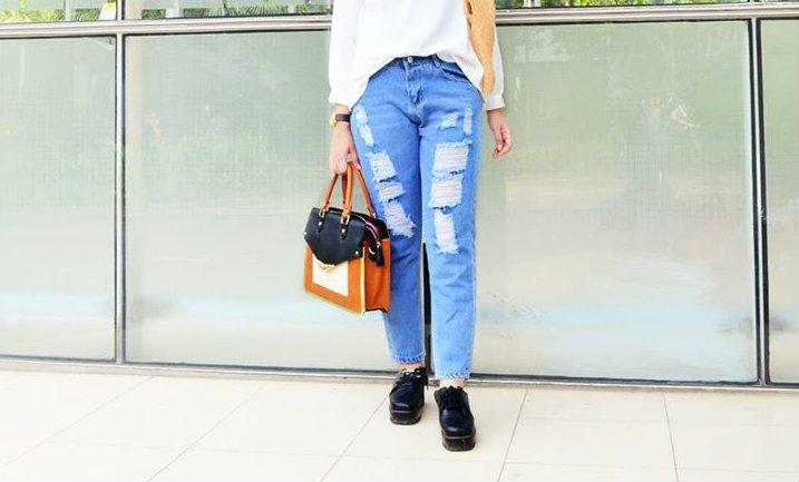ripped jeans juga bisa buat yang nggak berhijab