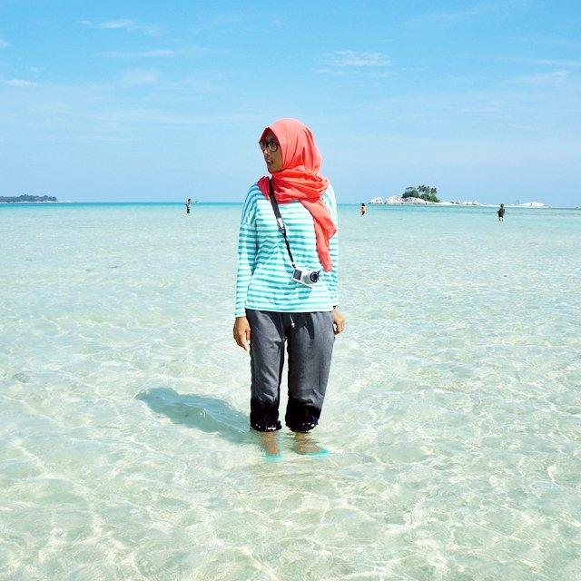 Pantai tanpa yang transparan