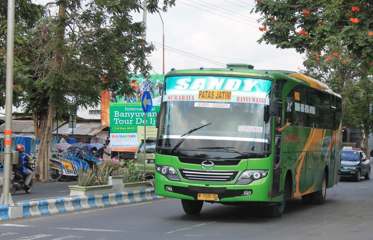 Kamu bisa naik bus dari Surabaya