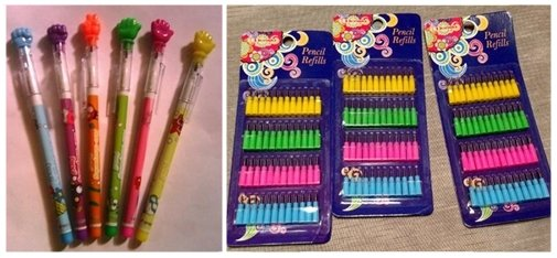 pensil isi, lengkap dengan isi ulangnya