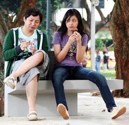 Ringgo Agus dan Marshanda dalam film Kalau Cinta Jangan Cengeng.