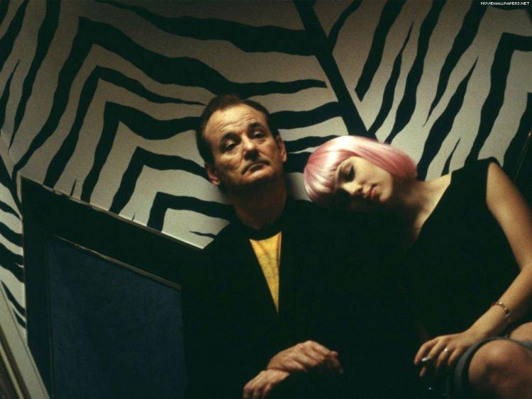 Scarlett dan Bill dalam Lost In Translation yang tampak serasi.