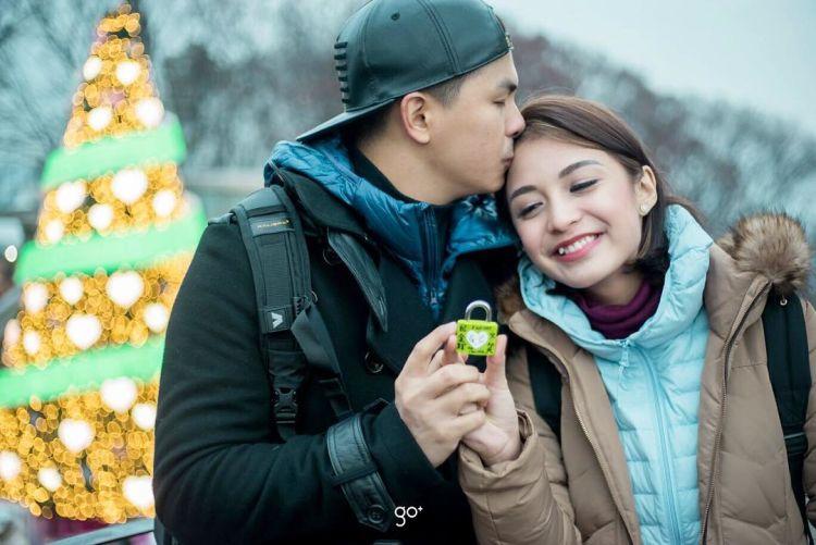 Romantisnya Glenn dan Chelsea di Korea.