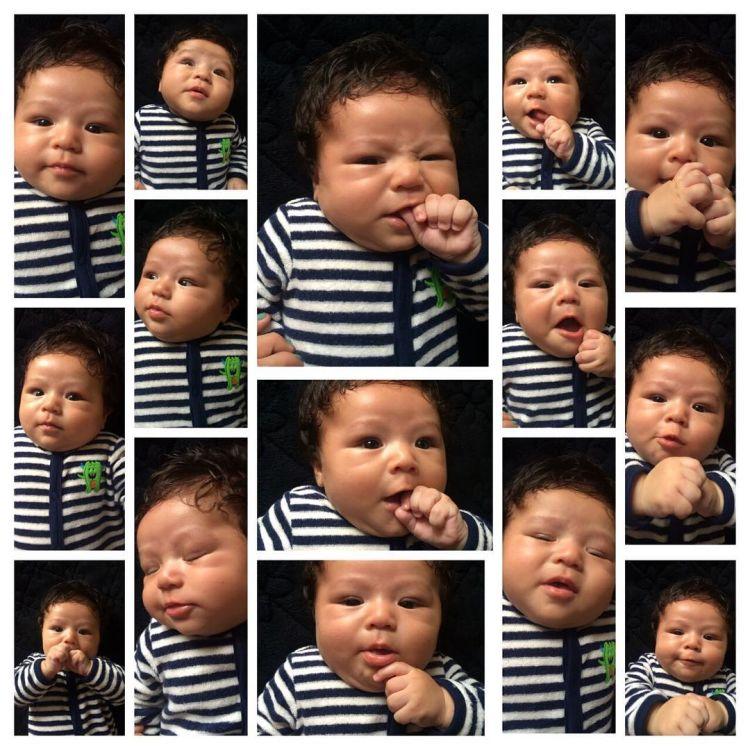 Coba pilih, mana ekspresi Baby El favoritmu?