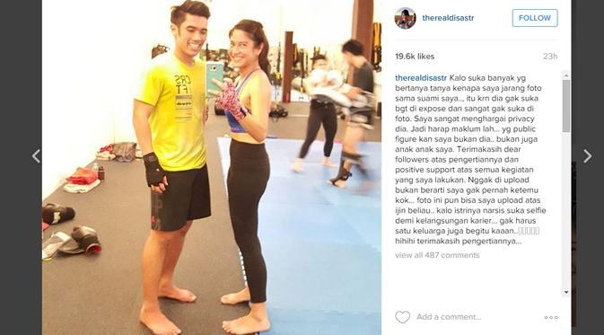 Pernyataan Dian tentang suaminya yang enggan diekspos di instagram.