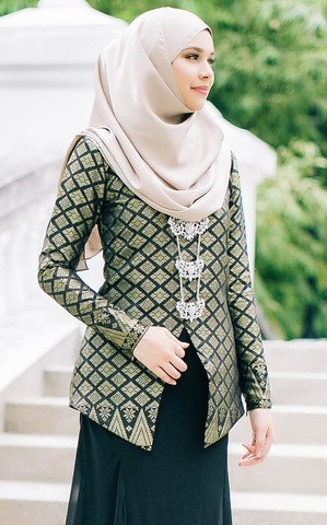blouse elegan songket