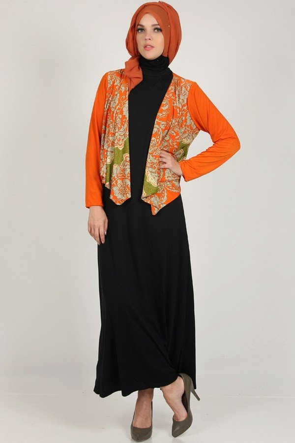 gamis + blazer? Why not!