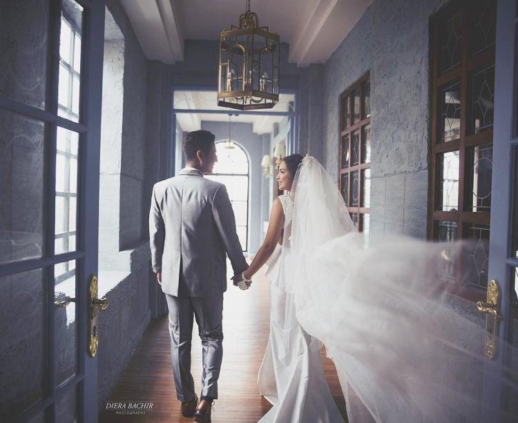 Hasil bidikan Diera Bachir berikut ini bikin Tian dan Jun bak pasangan paling romantis sedunia.