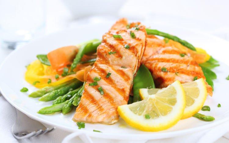 grilled salmon! nyam nyam..